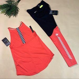 🌺 NEW Nike Leggings & Tank Matching Set - Size XS